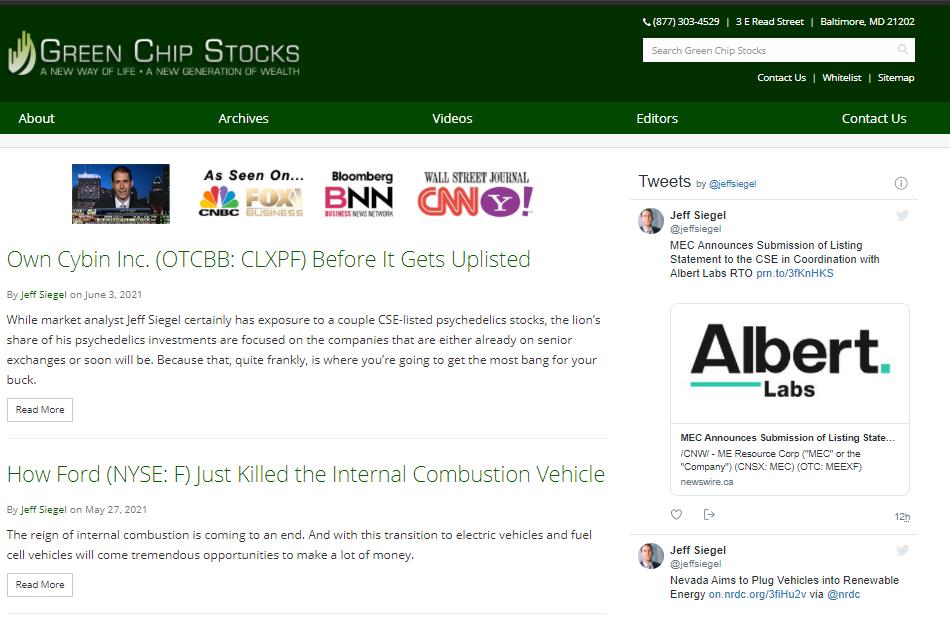The Green Chip Stocks Website