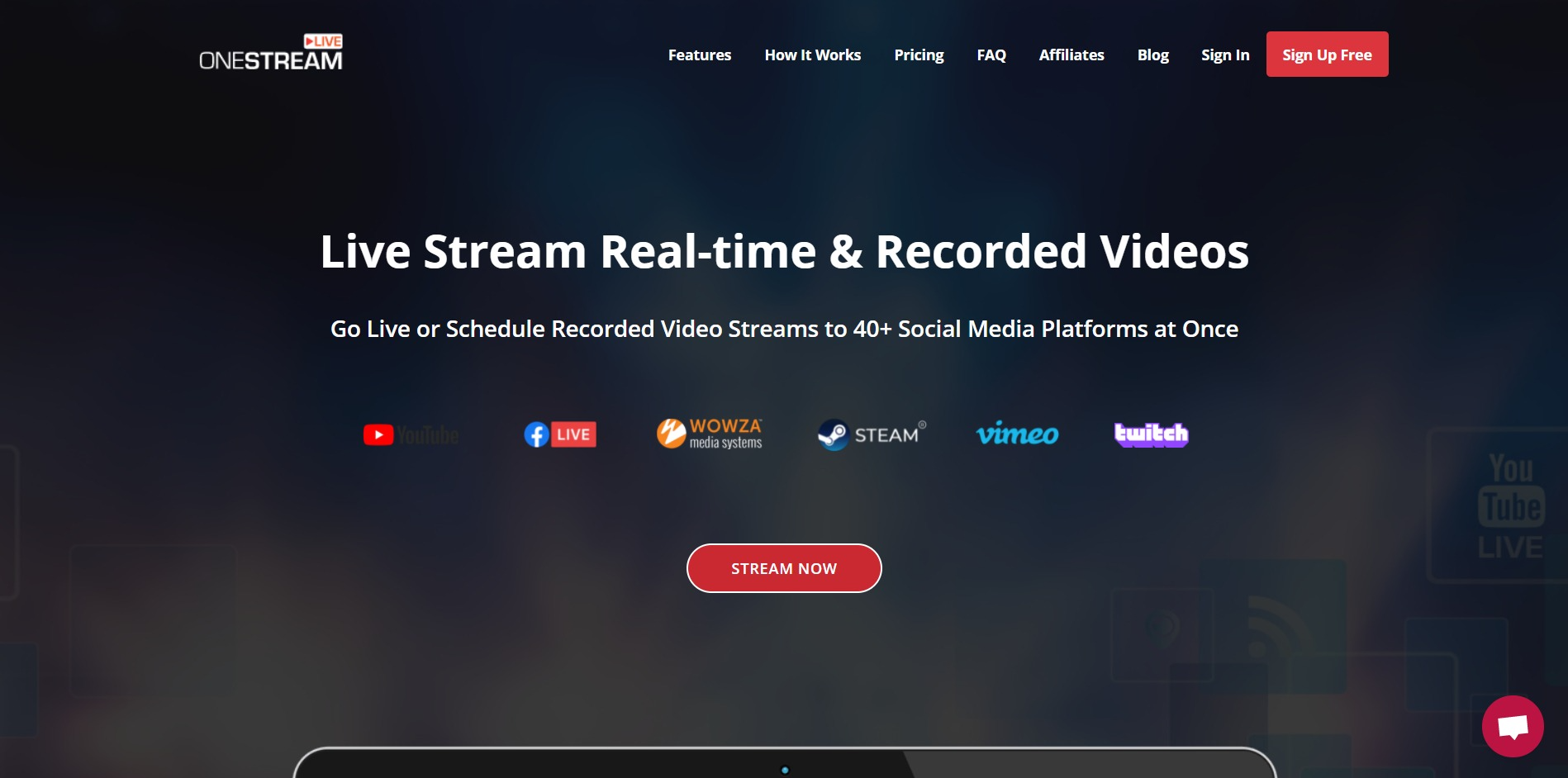 OneStream Live main page