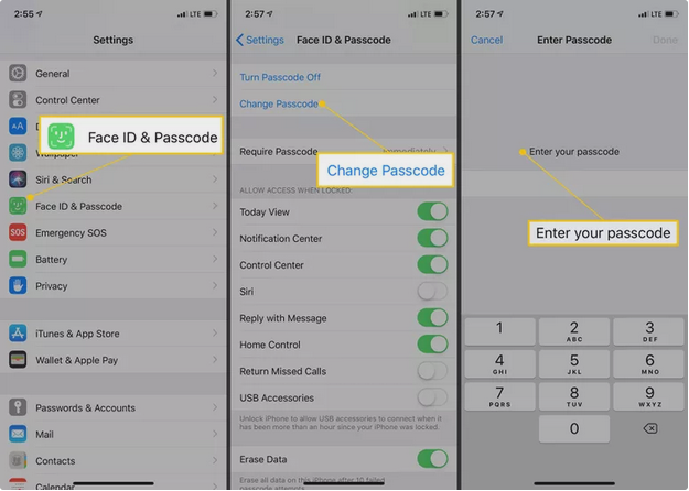 secure your passcode iphone