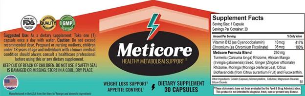 Meticore Label