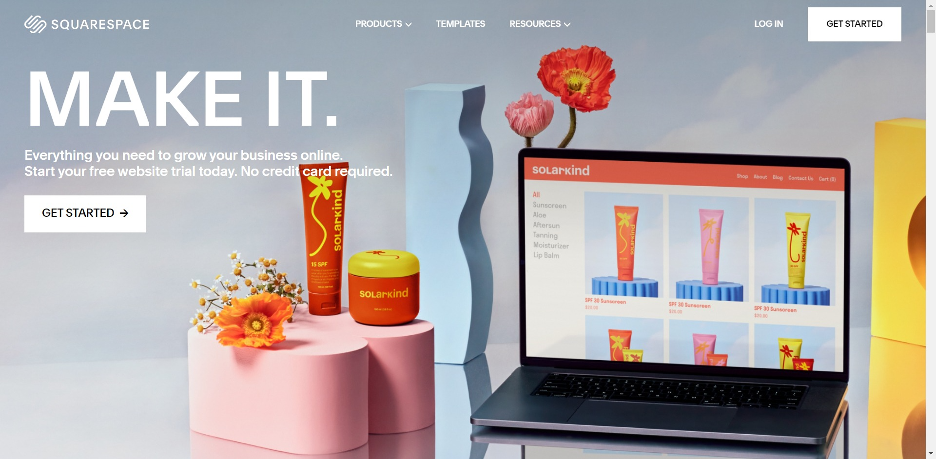 Squarespace home page