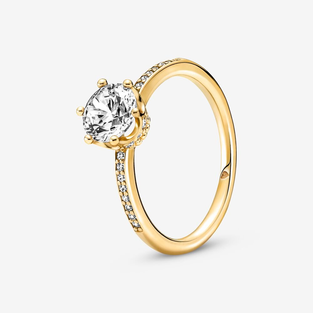 Crown Solitaire Ring