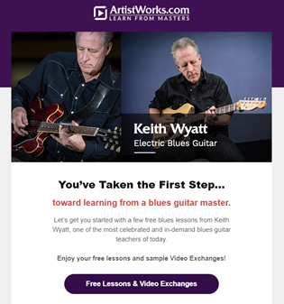ArtistWorks guitar first step.