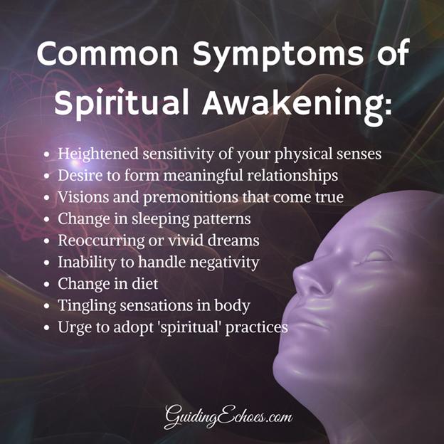 Some symptoms of spiritual awakening https://www.pinterest.com/pin/446700856774539390/