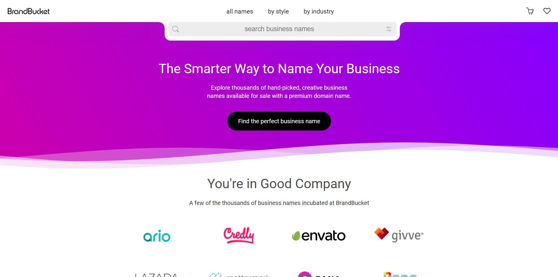 BrandBucket Domain Name Generator