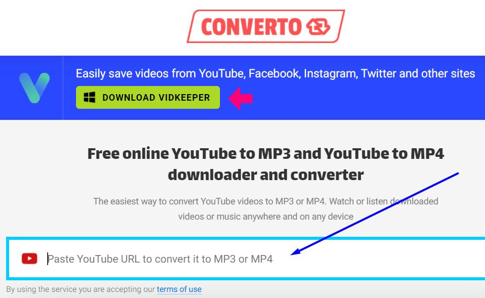 convert.io step 1