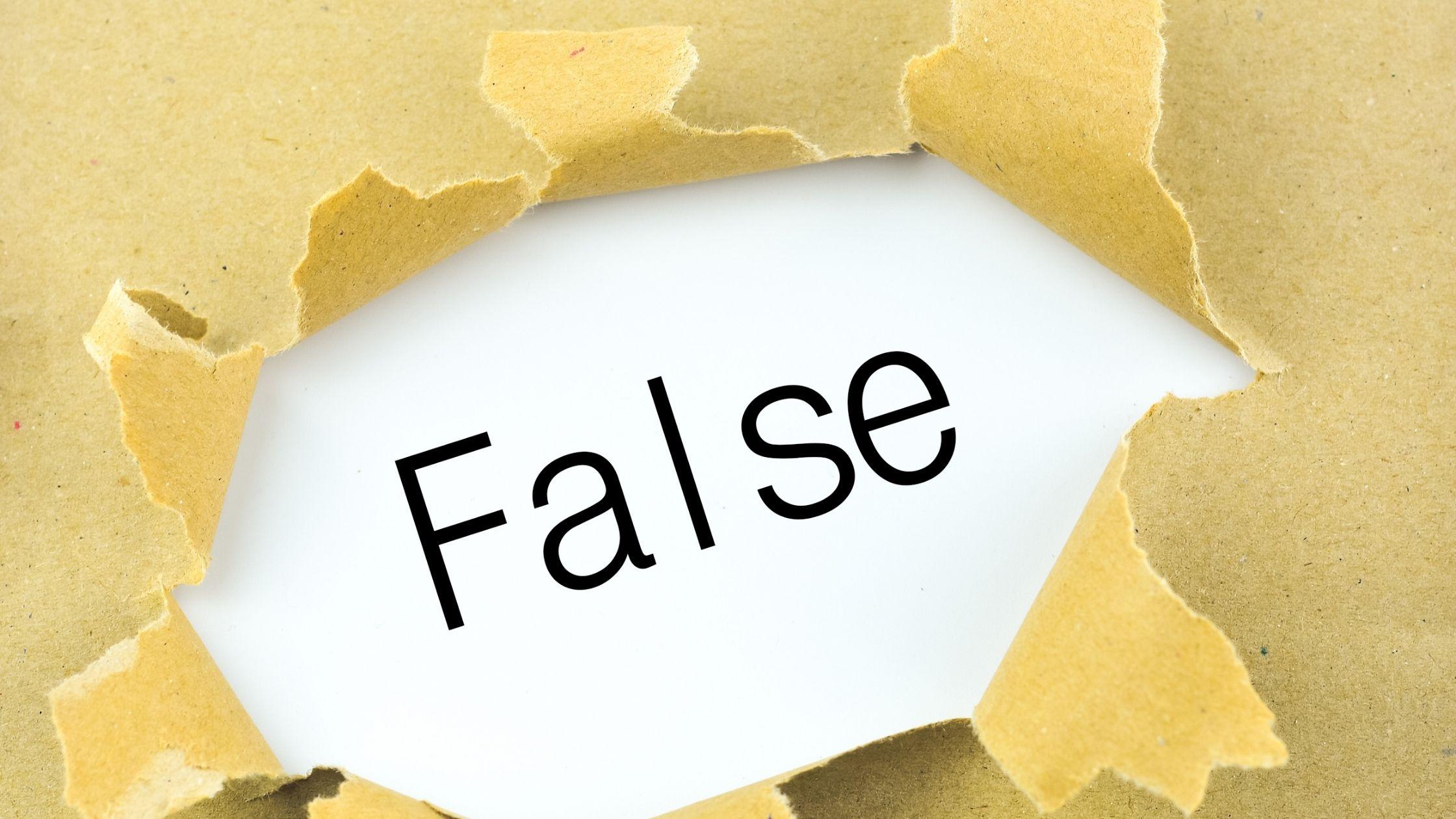 remove false information