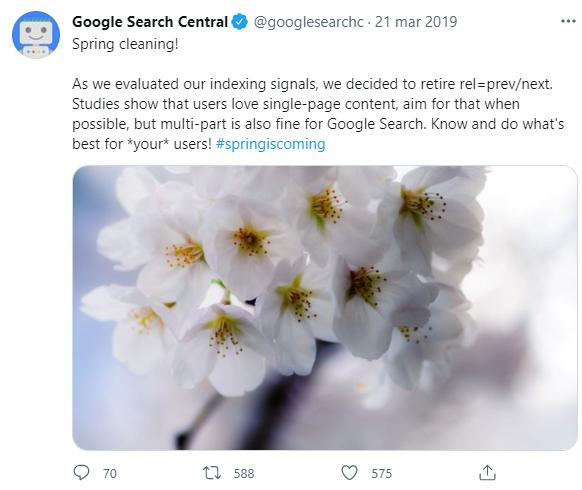 """oficjalne ogłoszenie Google nt. rel=""""next"""" i rel=""""prev"""""""
