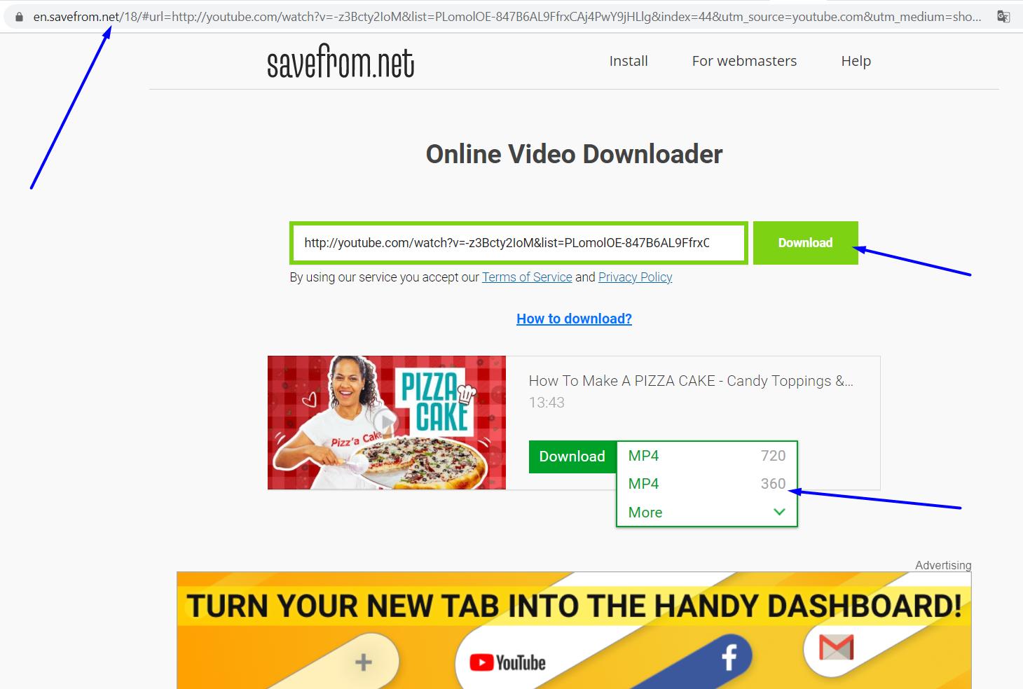 savefrom.net step 3