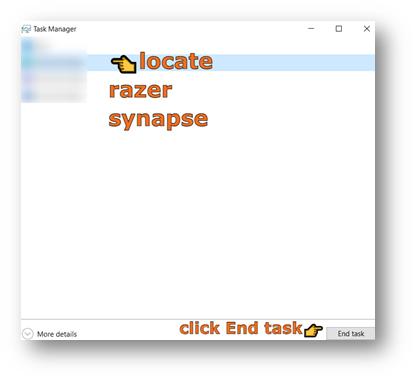 end task of razer synapse